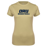 Ladies Syntrel Performance Vegas Gold Tee-Basketball