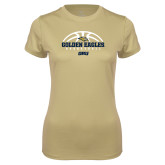 Ladies Syntrel Performance Vegas Gold Tee-Basketball Arch Design