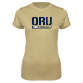 Ladies Syntrel Performance Vegas Gold Tee-ORU Basketball Design