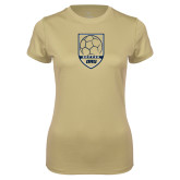 Ladies Syntrel Performance Vegas Gold Tee-Soccer Shield Design