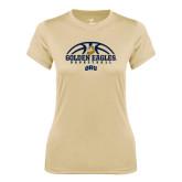 Ladies Syntrel Performance Vegas Gold Tee-Golden Eagles Basketball Half Ball