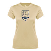 Ladies Syntrel Performance Vegas Gold Tee-ORU Soccer Shield