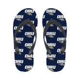 Ladies Full Color Flip Flops-ORU w Mascot