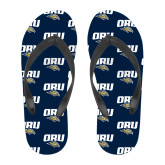 Full Color Flip Flops-ORU w Mascot