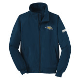 Navy Charger Jacket-Golden Eagle Mascot