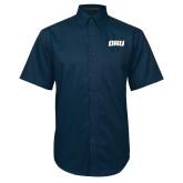 Navy Twill Button Down Short Sleeve-ORU