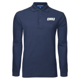 Navy Long Sleeve Polo-ORU