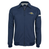Navy Players Jacket-Golden Eagle Mascot