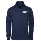 Navy Slub Fleece 1/4 Zip Pullover-ORU