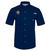 Columbia Bonehead Navy Short Sleeve Shirt-Eli