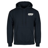 Navy Fleece Hoodie-ORU Golden Eagles