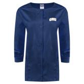 Ladies Navy Snap Front Warm Up Scrub Jacket-ORU