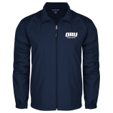 Full Zip Navy Wind Jacket-ORU Golden Eagles