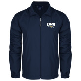 Full Zip Navy Wind Jacket-ORU w Mascot