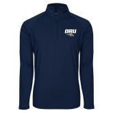 Sport Wick Stretch Navy 1/2 Zip Pullover-ORU w Mascot