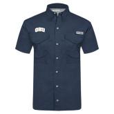 Columbia Tamiami Performance Navy Short Sleeve Shirt-ORU