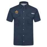 Columbia Tamiami Performance Navy Short Sleeve Shirt-Eli