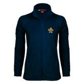 Ladies Fleece Full Zip Navy Jacket-Eli
