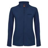 Ladies Fleece Full Zip Navy Jacket-ORU