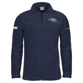 Columbia Full Zip Navy Fleece Jacket-Golden Eagle Mascot