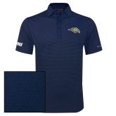 Columbia Navy Omni Wick Sunday Golf Polo-Golden Eagle Mascot
