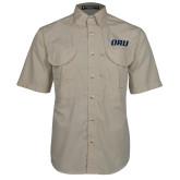 Khaki Short Sleeve Performance Fishing Shirt-ORU
