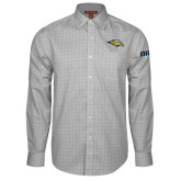 Red House Grey Plaid Long Sleeve Shirt-Golden Eagle Mascot