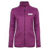 Dark Pink Heather Ladies Fleece Jacket-ORU