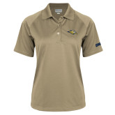 Ladies Vegas Gold Textured Saddle Shoulder Polo-Golden Eagle Mascot