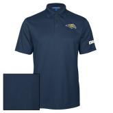 Navy Performance Fine Jacquard Polo-Golden Eagle Mascot