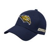 Navy Heavyweight Twill Pro Style Hat-Golden Eagle Mascot