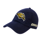 Navy Twill Unstructured Low Profile Hat-Golden Eagle Mascot