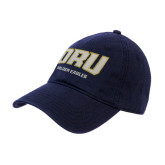 Navy Twill Unstructured Low Profile Hat-ORU Golden Eagles