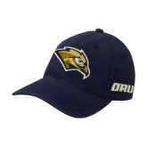 Navy OttoFlex Unstructured Low Profile Hat-Golden Eagle Mascot