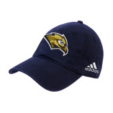 Adidas Navy Slouch Unstructured Low Profile Hat-Golden Eagle Mascot