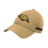 Vegas Gold Twill Unstructured Low Profile Hat-Golden Eagle Mascot