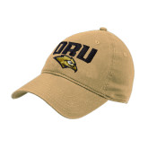Vegas Gold Twill Unstructured Low Profile Hat-ORU w Mascot