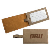 Ultra Suede Tan Luggage Tag-ORU  Engraved