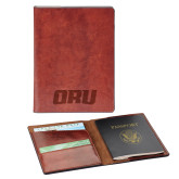 Fabrizio Brown RFID Passport Holder-ORU  Engraved