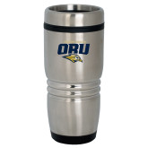 Rolling Ridges Silver Stainless Tumbler 16oz-ORU Golden Eagles Mark