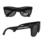 Black Sunglasses-Golden Eagles Wordmark