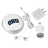 3 in 1 White Audio Travel Kit-ORU