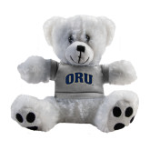 Plush Big Paw 8 1/2 inch White Bear w/Grey Shirt-ORU