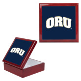 Red Mahogany Accessory Box With 6 x 6 Tile-ORU
