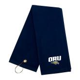Navy Golf Towel-ORU w Mascot