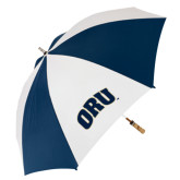 62 Inch Navy/White Umbrella-ORU