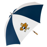 62 Inch Navy/White Umbrella-Eli