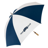 62 Inch Navy/White Umbrella-True ORU Blue