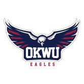 Large Decal-Half Eagle OKWU Eagles, 12 inches wide