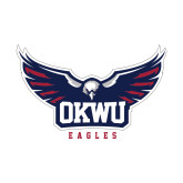 Small Decal-Half Eagle OKWU Eagles, 6 inches wide